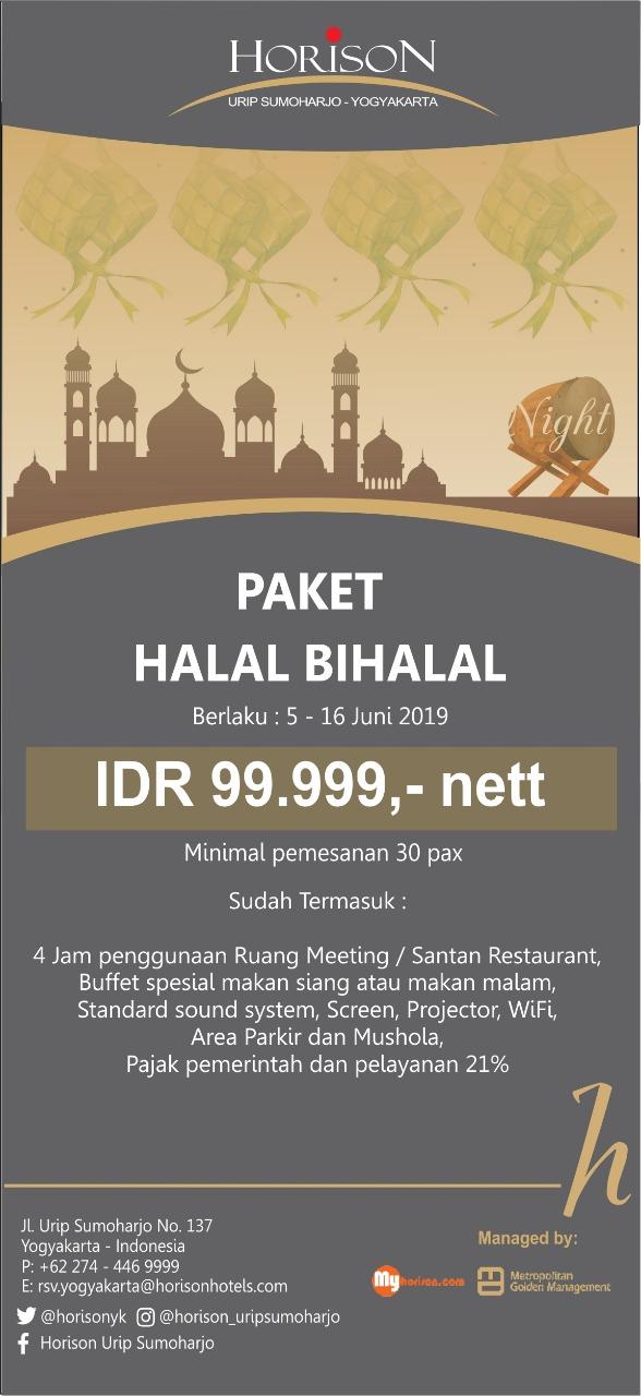 Horison Urip Sumoharjo Luncurkan  Paket Halal Bi Halal